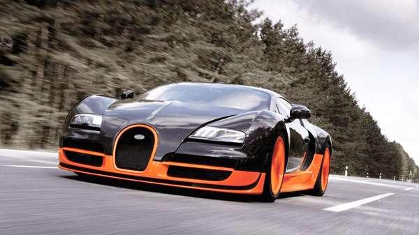 Bugatti Veyron car poster