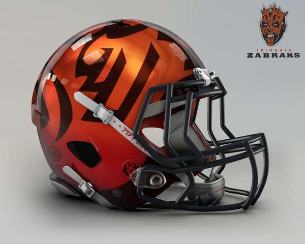 Cincinnati Bengals iridonia zabraks nfl team helmet star wars costum img