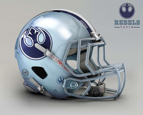 Dallas Cowboys rebels yavin nfl team helmet star wars costum img