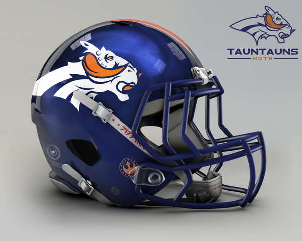 Denver Broncos tauntauns hoth nfl team helmet star wars costum img