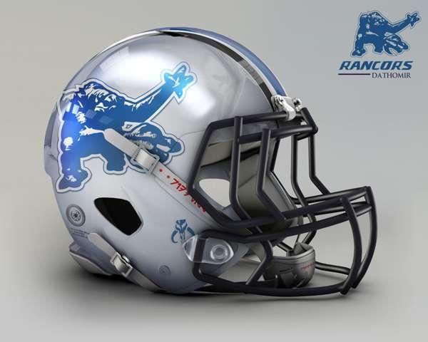 Detroit Lions rancors dathomir nfl team helmet star wars costum img