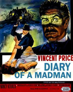 horror films anagrams - Diary-of-a-Madman-1963-poster movie jpg