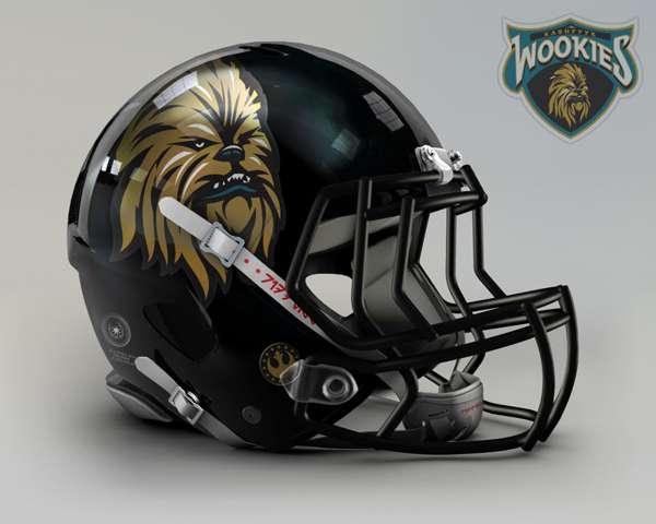 Jacksonville Jaguars wookies nfl team helmet star wars costum img