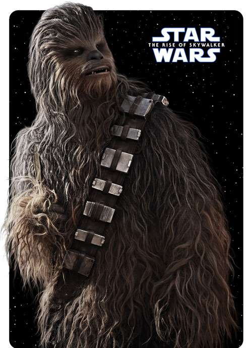 chewbacca the rise of skywalker poster