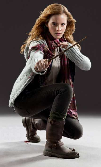 hermione granger deathly hallows acting with magic wand wallpaper hd