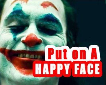 famous movie quotes : batman joker put on a happy face image