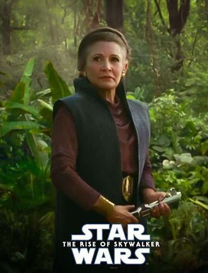 leia organa the rise of skywalker poster