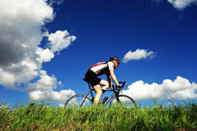 nature-sky-summer-grass-cycling pic