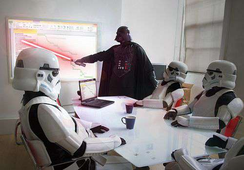 funny star wars humor in office image
