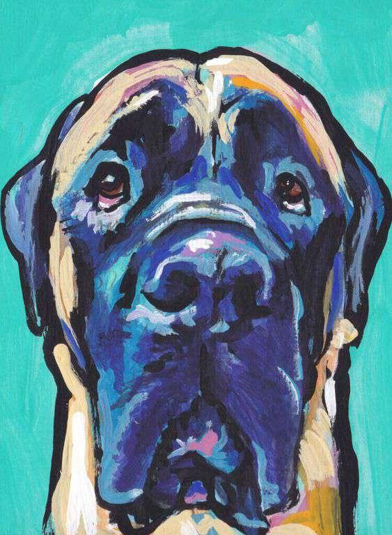 English Mastiff pop art picture