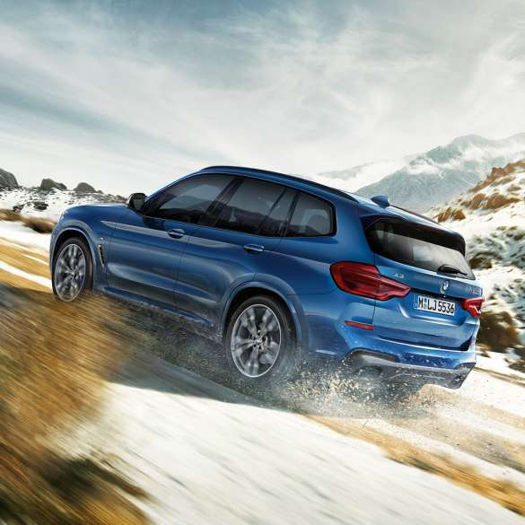 blue bmw x3_Series wallpaper