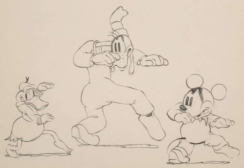 1 donald duck animated sketch