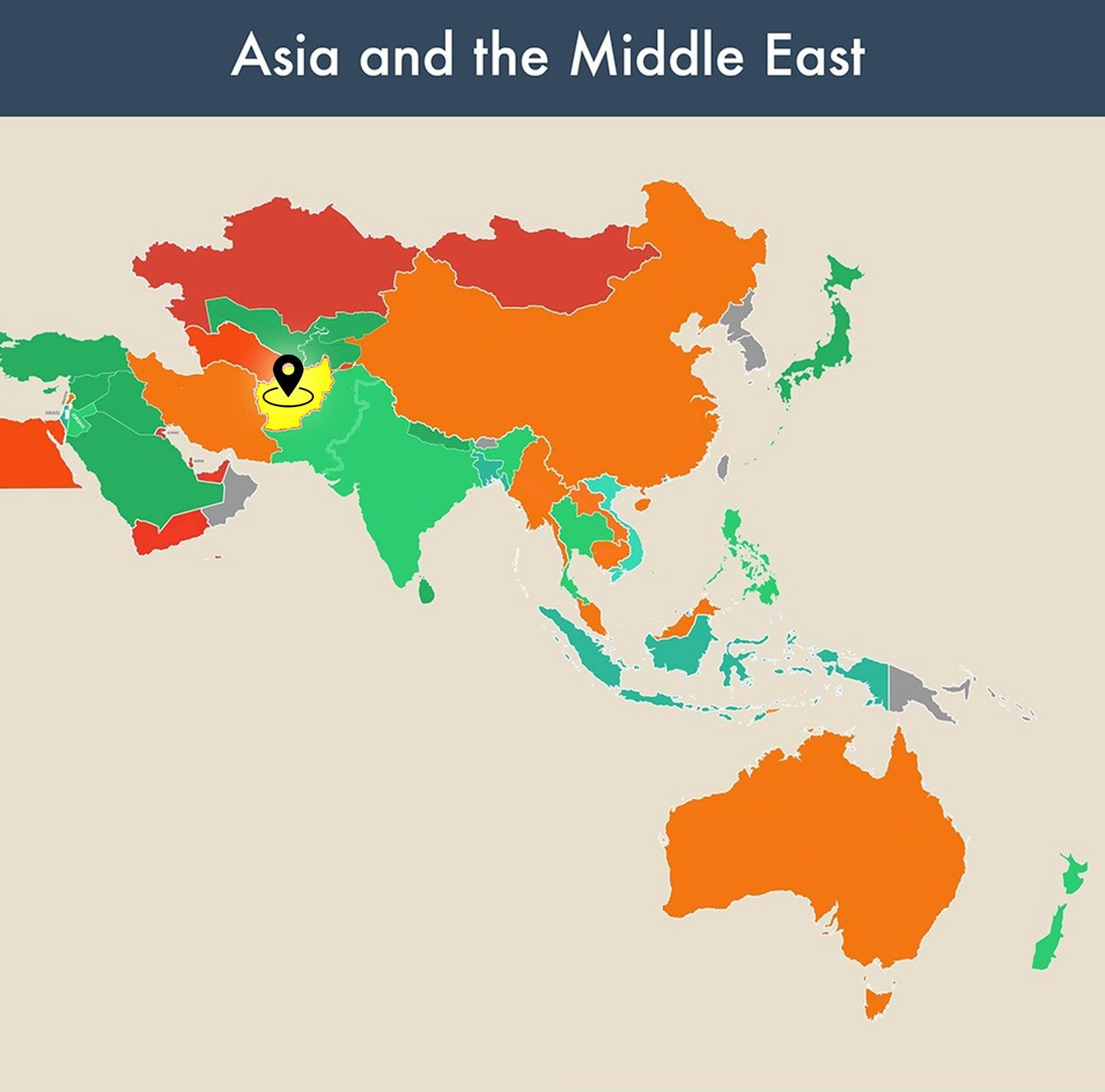 countries of the world empty map - afghanistan image