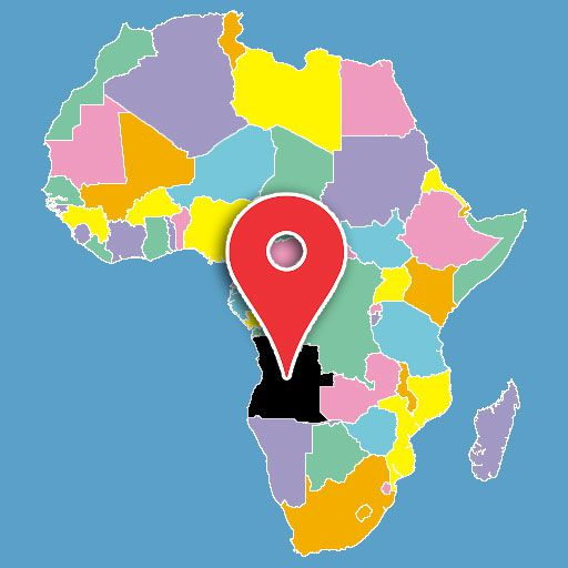 africa map quiz - angola-blank-map