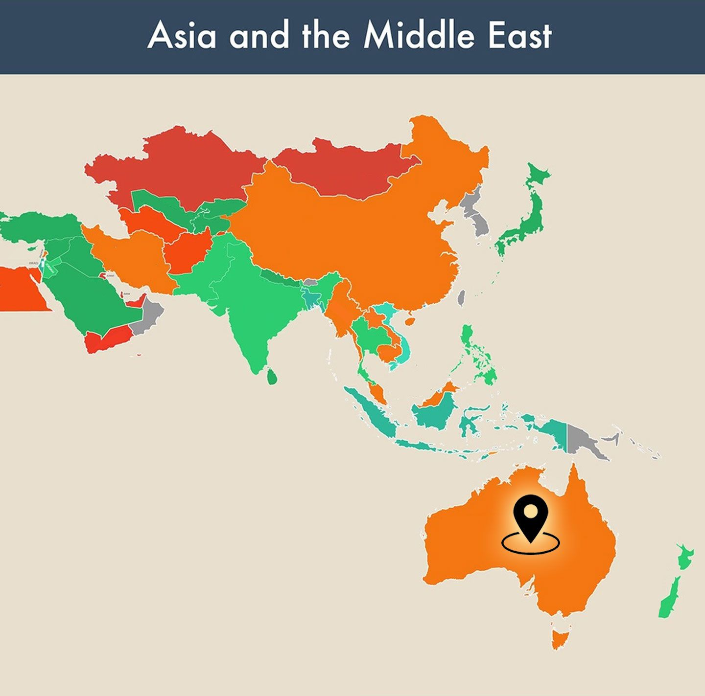 countries of the world empty map - australia image