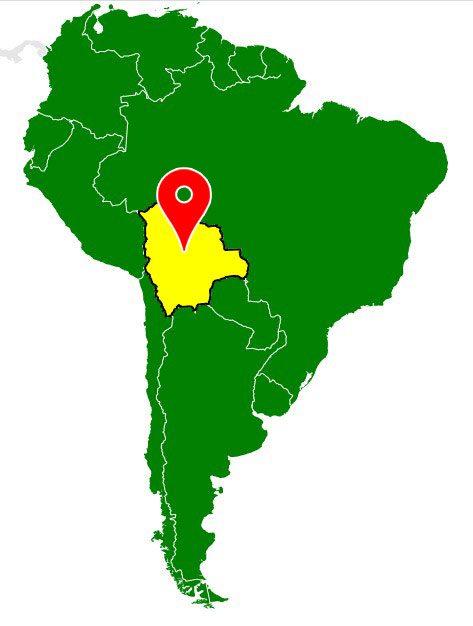 south america map - bolivia-blank-map