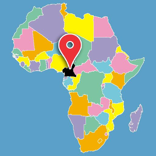 africa map quiz - cameroon-blank-map