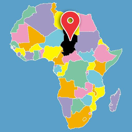 africa map quiz - chad-blank-map