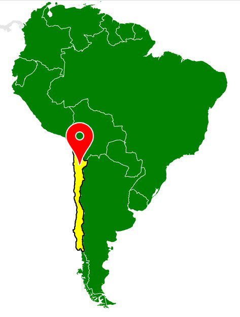 south america map - chile