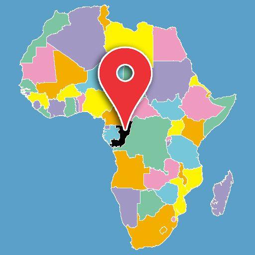 africa map quiz - congo-blank-map