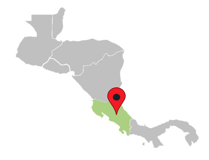 central america map quiz - costa-rica-central-america-blank-map