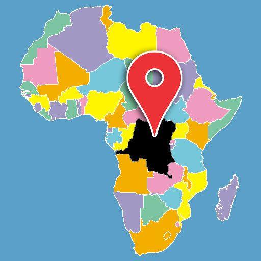 africa map quiz - democratic republic of congo-blank-map
