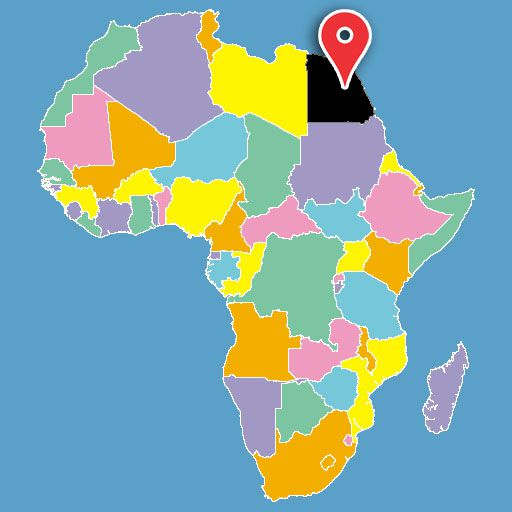 africa map quiz - egypt-blank-map