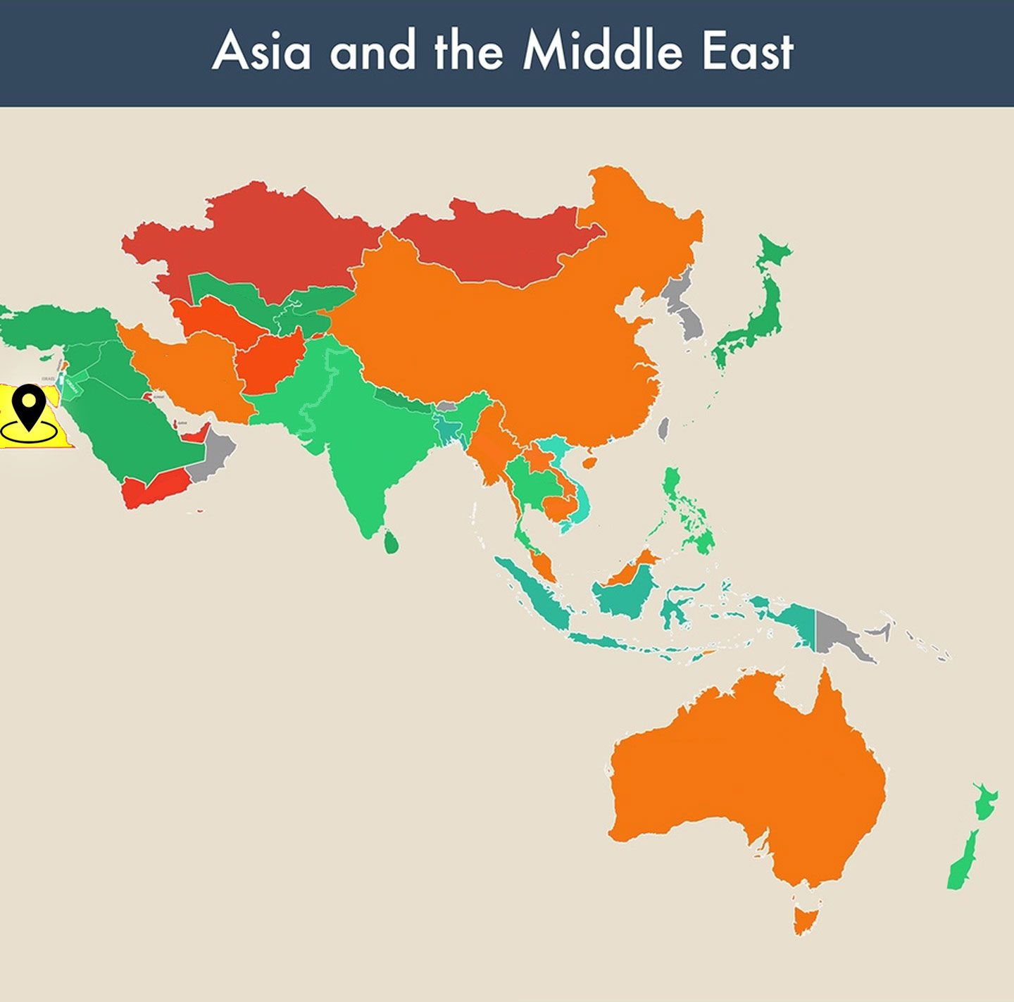 countries of the world empty map - egypt image