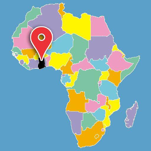 africa map quiz - ghana-blank-map