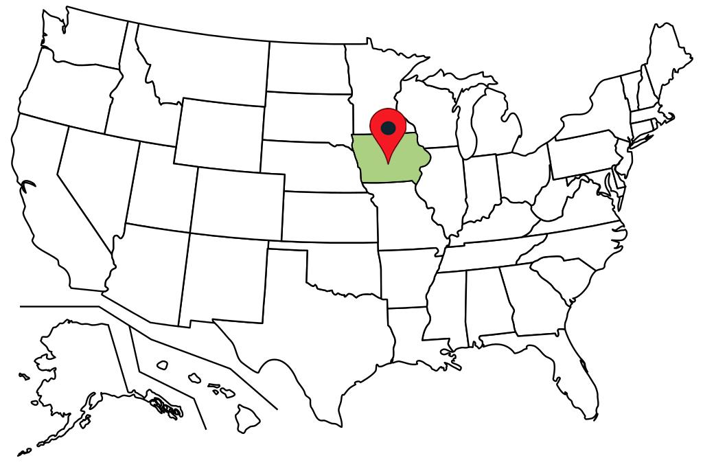 iowa-blank-map