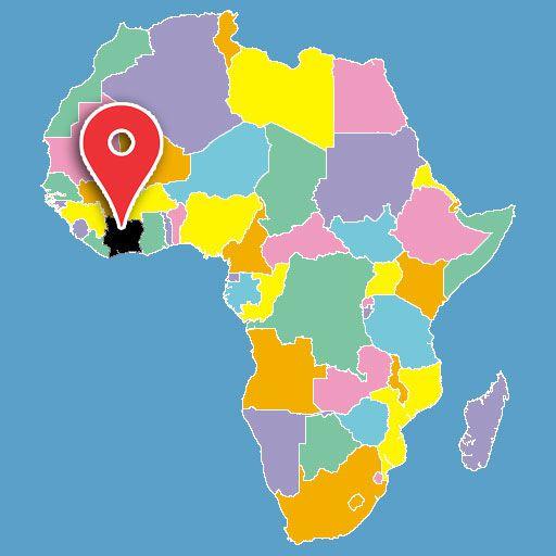 africa map quiz - ivory-coast-blank-map