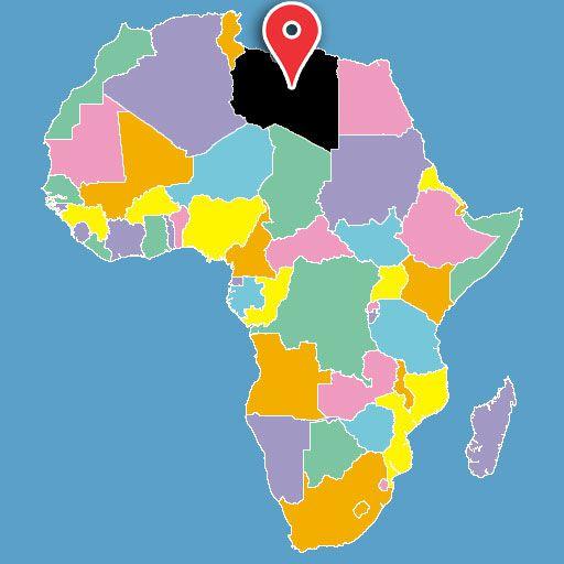 libya-blank-map
