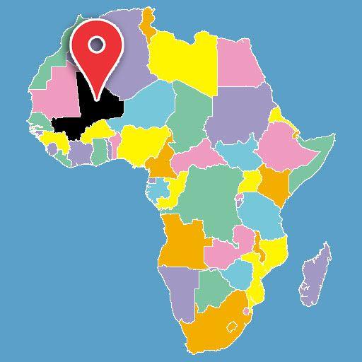 mali-blank-map