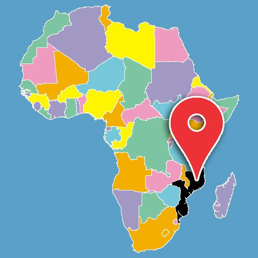 map of africa quiz - mozambique-blank-map