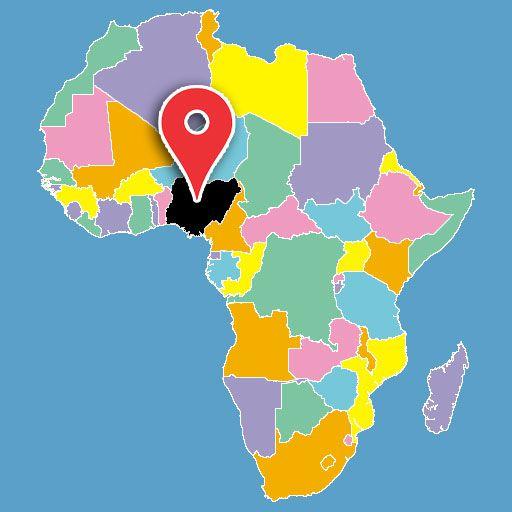 map of africa quiz - nigeria-blank-map