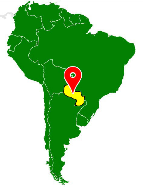map of south america - paraguay-blank-map
