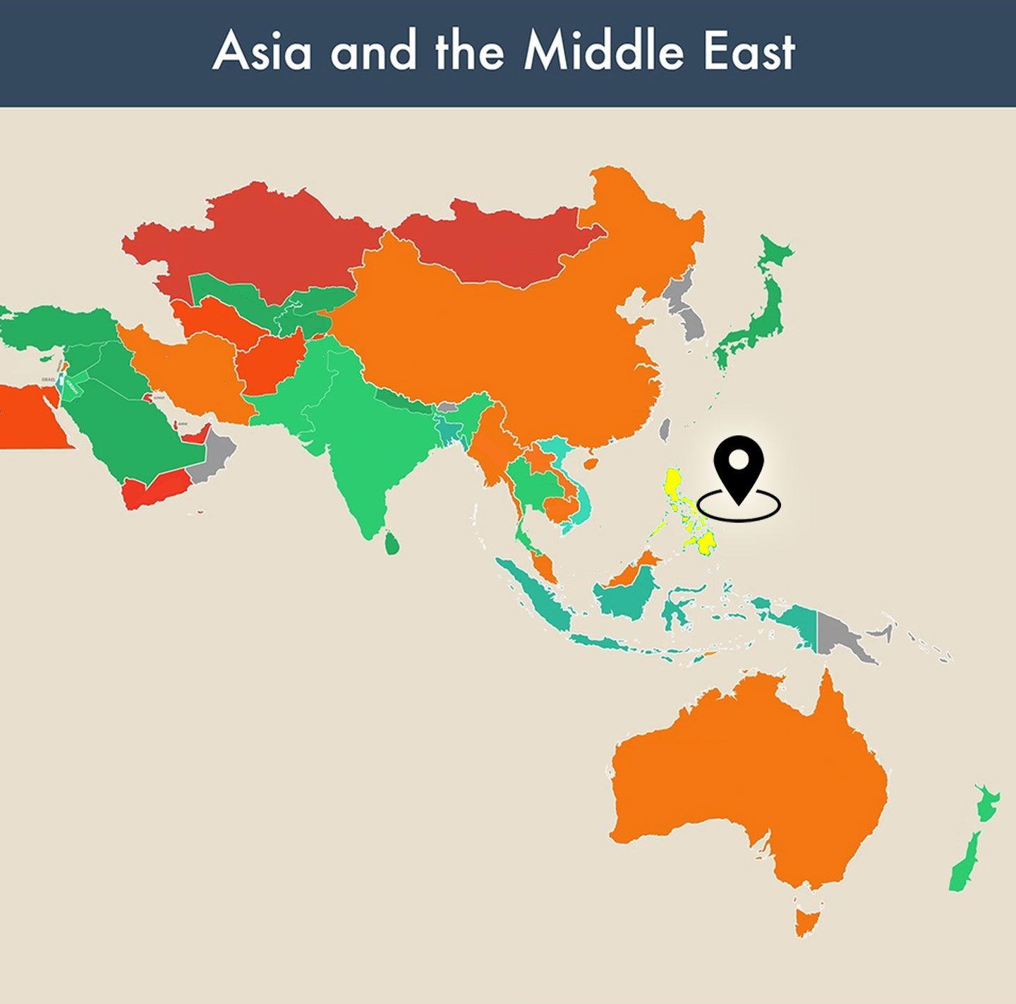 countries of the world empty map - philippines image