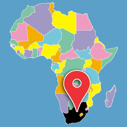 map of africa quiz - south-africa-blank-map