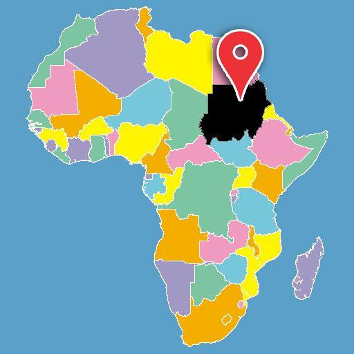 map of africa quiz - sudan-blank-map