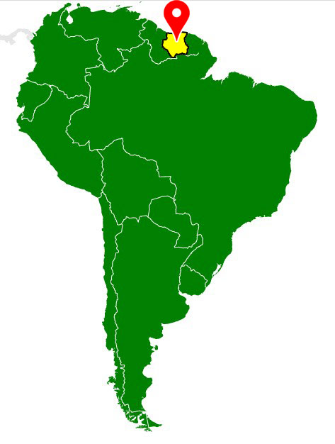 map of south america - suriname-blank-map
