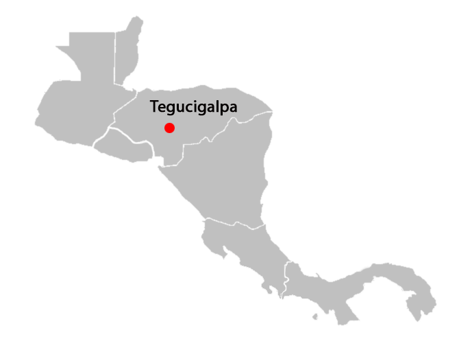 central american countries and capitals map - tegucigalpa-blank-map
