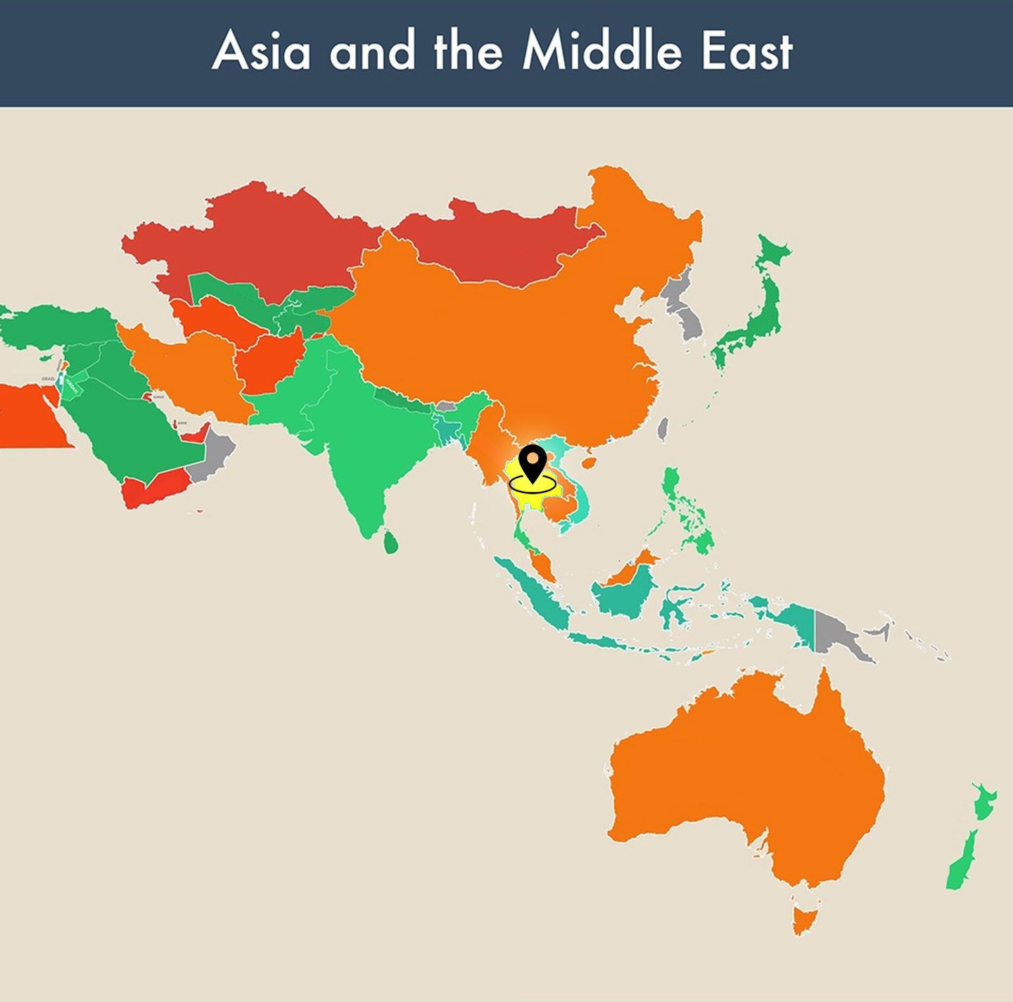 countries of the world empty map - thailand image