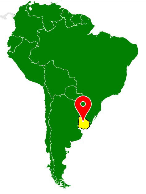 map of south america - uruguay-blank-map