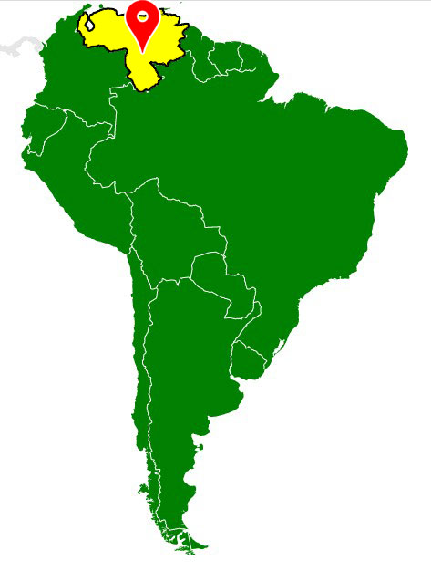 map of south america - venezuela-blank-map