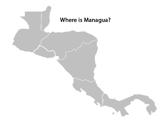 map of central america quiz - where-is-managua