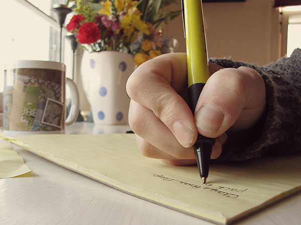 writting personal weekly to do list