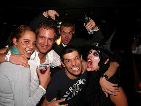 happy fun faces at party