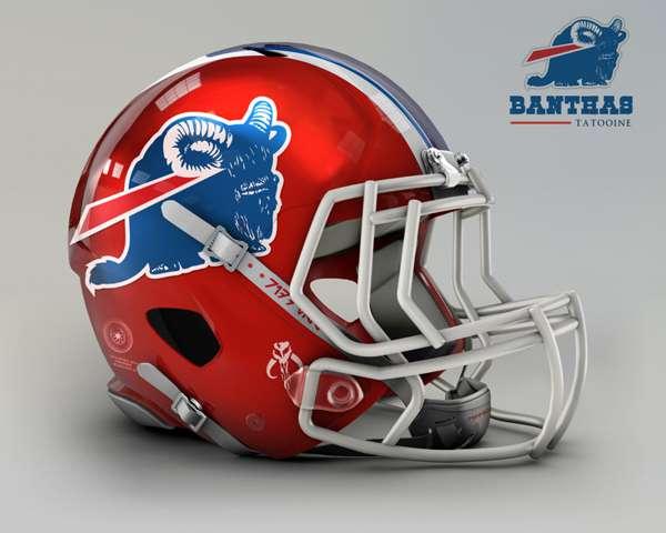 Buffalo Bills banthas tatooine nfl team helmet img