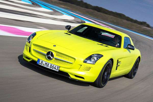 Mercedes SLS Electric car pic