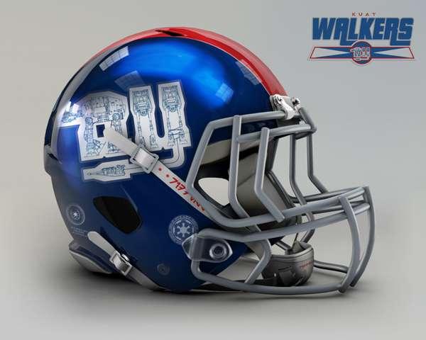 New York Giants kuat walkers nfl team helmet star wars costum img